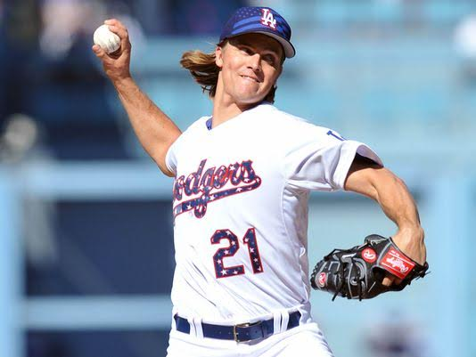 Zack Greinke, jogador da Major League Baseball, atua como pitcher (Foto: Gary A. Vasquez/ USA Today Sports)