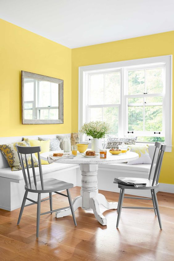 O amarelo no design de interiores
